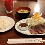 小松屋 - 黒毛和牛ステーキ定食 限定10食