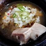 Ramen光鶏 - レモニーボのスープをかけて、〆のお茶漬けを楽しみませう。