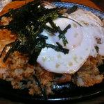 風緑 - ブタとキムチの焼きごはん(スープ付)