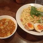 ガハハ食堂 - 海老出汁醤油つけ麺大盛り+味玉