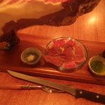 monpa - スペイン産の生ハムです。切りたてをお楽しみください。