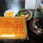 うなぎ 松村 - 料理写真:「鰻重 松」一式