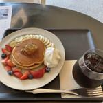 157900699 - パンケーキとアイスコーヒー♪