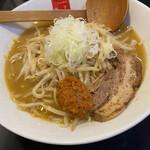 高田 煮干しと焼き味噌 豆亭 - 辛味焼き味噌ラーメン