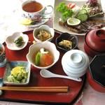 キッチン 赤いフォーク - 和食コースの一例