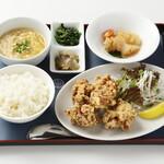 紅蘭亭 - 【清炸鶏定食】九州産若鶏のから揚げ定食。1,150円