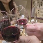 かさはら - ワインで乾杯