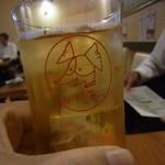 あぶ家 - グラスが可愛いっす