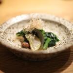高太郎 - 野菜(ゴーヤ)と2種の豆のおひたし