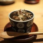 高太郎 - 黒まい茸と蛤の茶碗蒸し