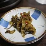 馬賊 - 料理写真:この辛子高菜もめっちゃ美味しいです!