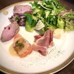 肉炭 ゴッツ - 料理写真:前菜6種類