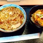 そばの神田 - 小柱のかき揚げ丼のセット