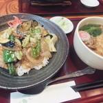 満留賀 - スタミナ炒め+おそばセット