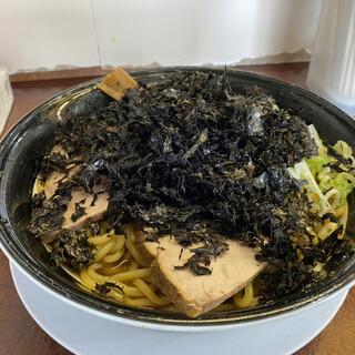 渚 - 料理写真:油そば(¥690)+とくもり(¥60)+岩のり(¥190)