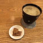 157958470 - すだちソーダと蕎麦チップ