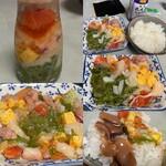 お惣菜屋 と文字 - 2021年9月。海鮮瓶ドンで手巻き寿司。