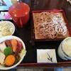 駒沢 そば蔵 - 料理写真:もり蕎麦+ハーフ海鮮丼