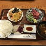 157985721 - マグロ刺身定食