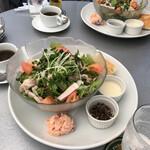 ECO FARM CAFE 632 - サラダプレート、食後に珈琲