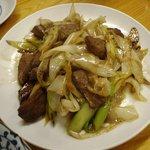 赤坂酒場 - ハツネギ炒めはシャクシャクです。