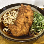 弥生軒 - 料理写真:唐揚(1ケ)そば (440円)
