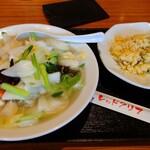 レッドクリフ - 料理写真:選べる麺(海鮮タンメン)+半チャーハンset