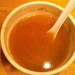 銀座 いし井 - スープ割り