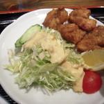 徳島らーめん ひろ家 - セットの徳島地鶏唐揚げ