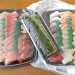 スシロー - スシローセット12種(3人前)+まぐろ三昧セット(4人前)+とろ鯖押し寿司(1本)