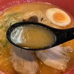 えび豚骨ラーメン 真面目 - このスープは旨いよ!