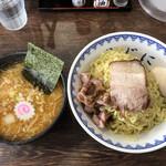 158025928 - 味噌つけ麺(950円)+大盛(100円)+味玉(100円)
