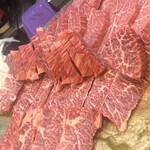 Akasakaraimon - 肉のドアップ