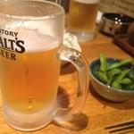 海鮮山 - ビールとお通し