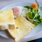 エレーナ - ベーコンエッグ&トースト +¥150-