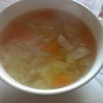 レストランカリーノ - セットのスープ