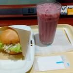 ドトールコーヒーショップ - 料理写真:モーニングセットの彩り野菜とアボカドチキン+ブドウヨーグルトジュース