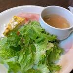 SALVATORE CUOMO & BAR - セットのサラダ、スープ、前菜