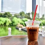 カナルカフェ - ブレンドコーヒー(COLD)@税込440円:ミルクをイン。