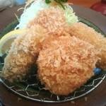 かつき亭 - ヒレカツ×2・カニクリームコロッケ   +牡蠣フライ