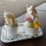 ソンニャーレ - 料理写真:枝豆+かぼちゃ+(おまけ)ラズベリーミルク、チョコミント+(おまけ)ほうじ茶