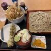 瀬谷そば - 料理写真:かき揚げ丼セット800円(蕎麦茹で前で200g)