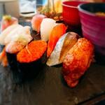 北々亭 - お寿司を中心に撮影。 斜めからのアングルでしか撮影してませんがご了承ください(笑)