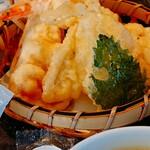 北々亭 - 天ぷら4種。 個人的に一番美味しかったのは蟹です。