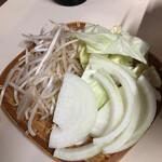 やきにく徳山 - 野菜は最初から来ます。