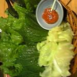 韓国郷土料理 ととり - 焼肉用の野菜