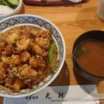 158130075 - かき揚げ丼&しじみ汁