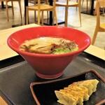 一風堂 - 料理写真:赤丸新味+博多ひとくち餃子