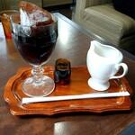 茶房迎賓館 - ドリンク写真:アイスコーヒー  ( 注いだ後 )