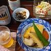 山家食堂 - 料理写真:お通し 野菜サラダ 煮しめ